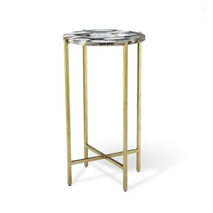 Interlude Leonie Agate End Table