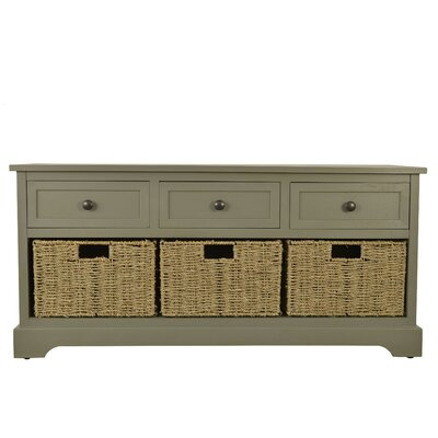 Ardina Wood Storage Bench Color: Ant Gray by Beachcrest Home