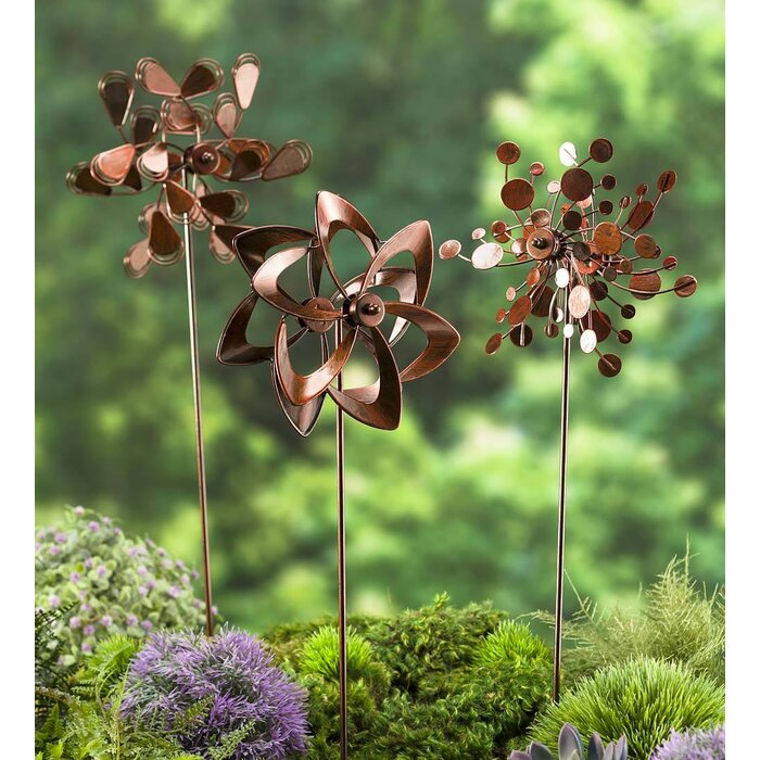 pinwheel outdoor garden stakes reviews pdp set plow ca piece wayfair hearth
