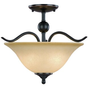Dover 2-Light Semi Flush Mount by Hardware House