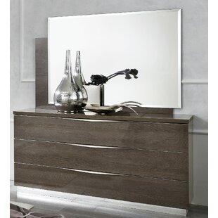 Fish 3 Drawer Dresser with Mirror