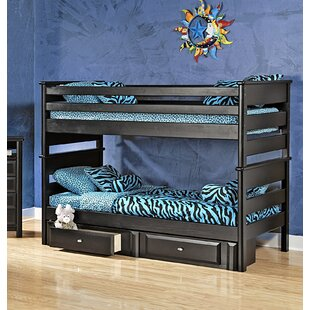 Allendale Twin Over Twin Bunk Bed with Storage by Harriet Bee