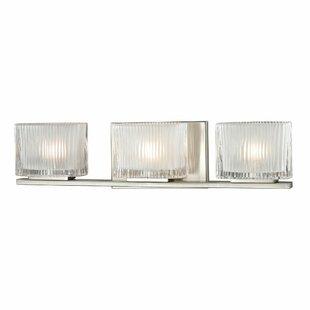 Orren Ellis Amirah Glass 3-Light Bath Bar