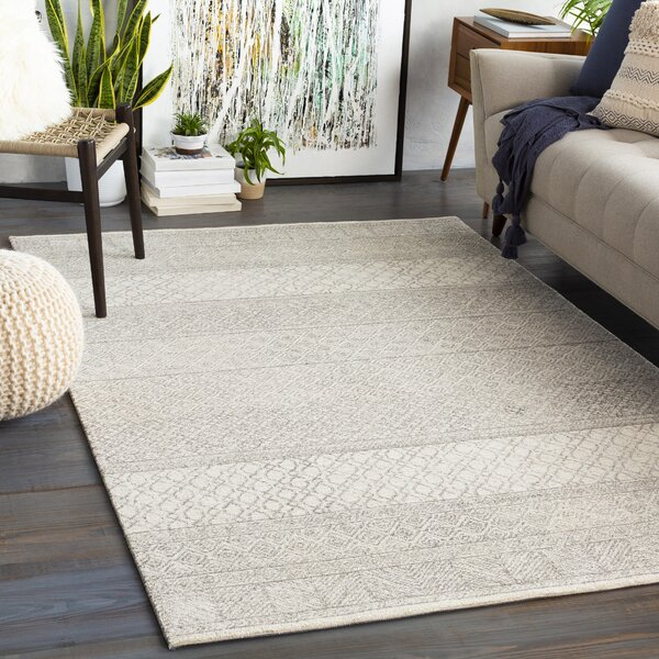 Shiloh Geometric Handmade Tufted Wool Gray Cream Area Rug Reviews Joss Main