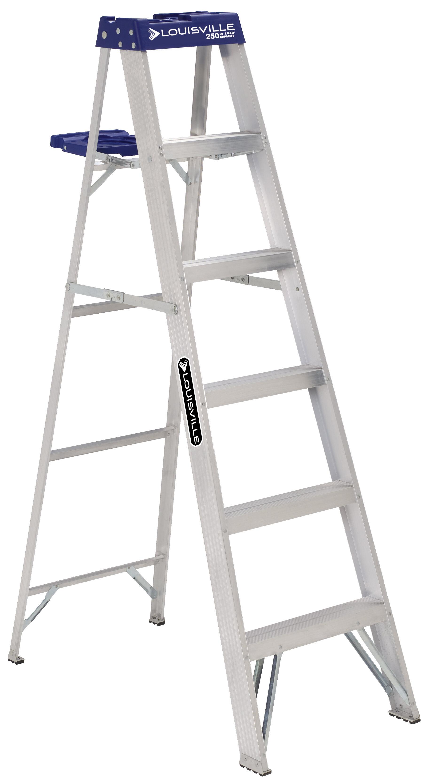 Louisville Ladder 6 Ft Aluminum Step Ladder Type I 250 Lb Load Capacity As2106 Wayfair