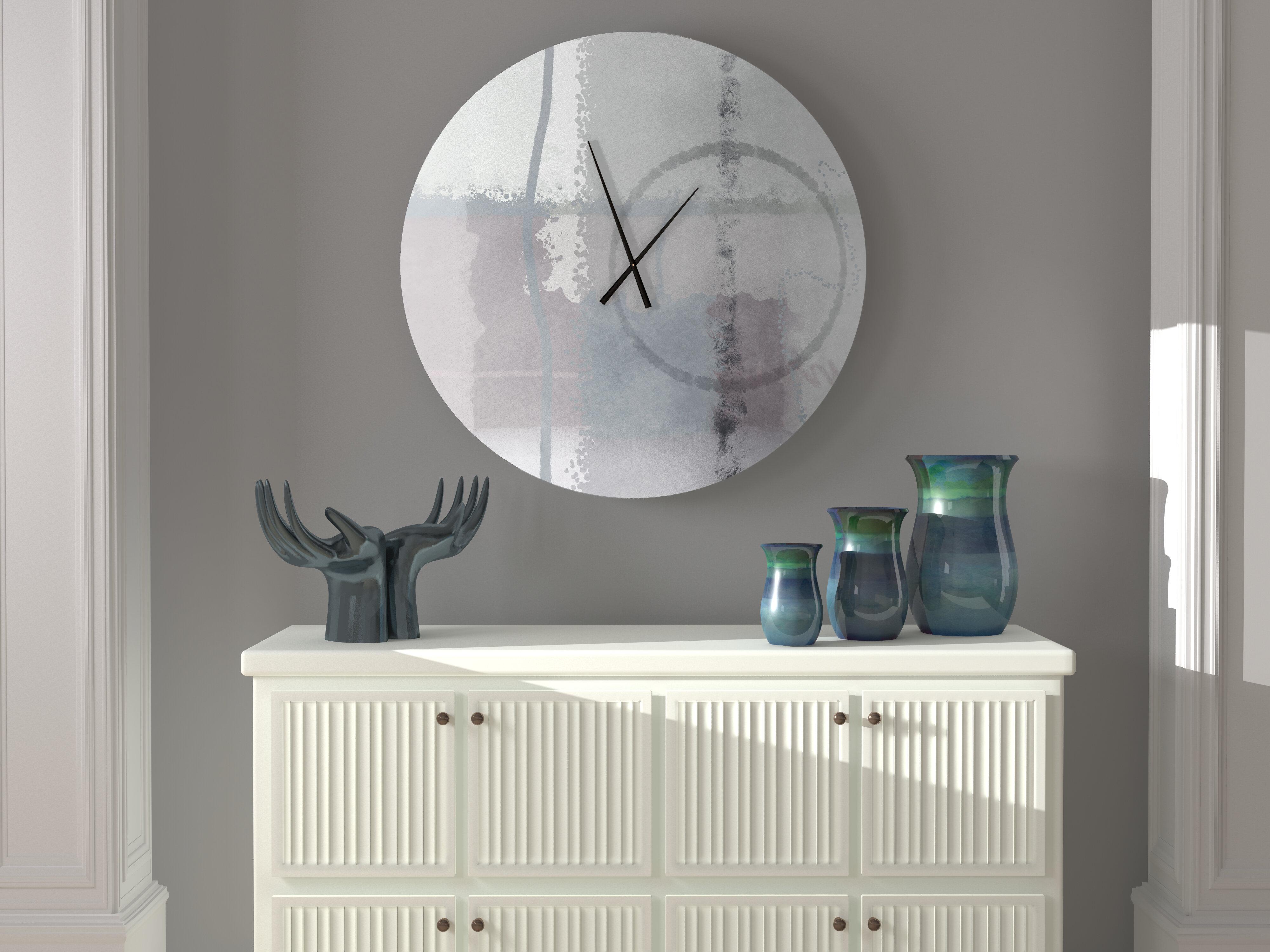 Latitude Run Heedful Heart To Heart Abstract Metal Wall Clock Wayfair