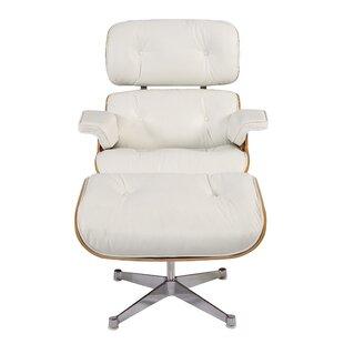 Orren Ellis Sandiford Mid Century Lounge Chair and Ottoman