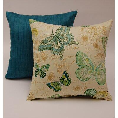Dakotah Pillow 2 Piece Papillon Knife Edge Cotton Throw Pillow Set