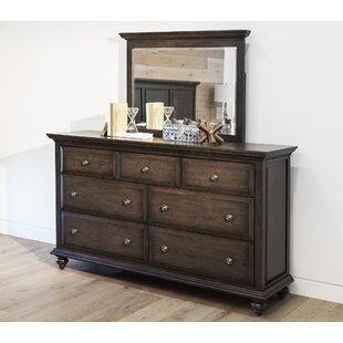 World Menagerie Dezirae 7 Drawer Dresser with Mirror
