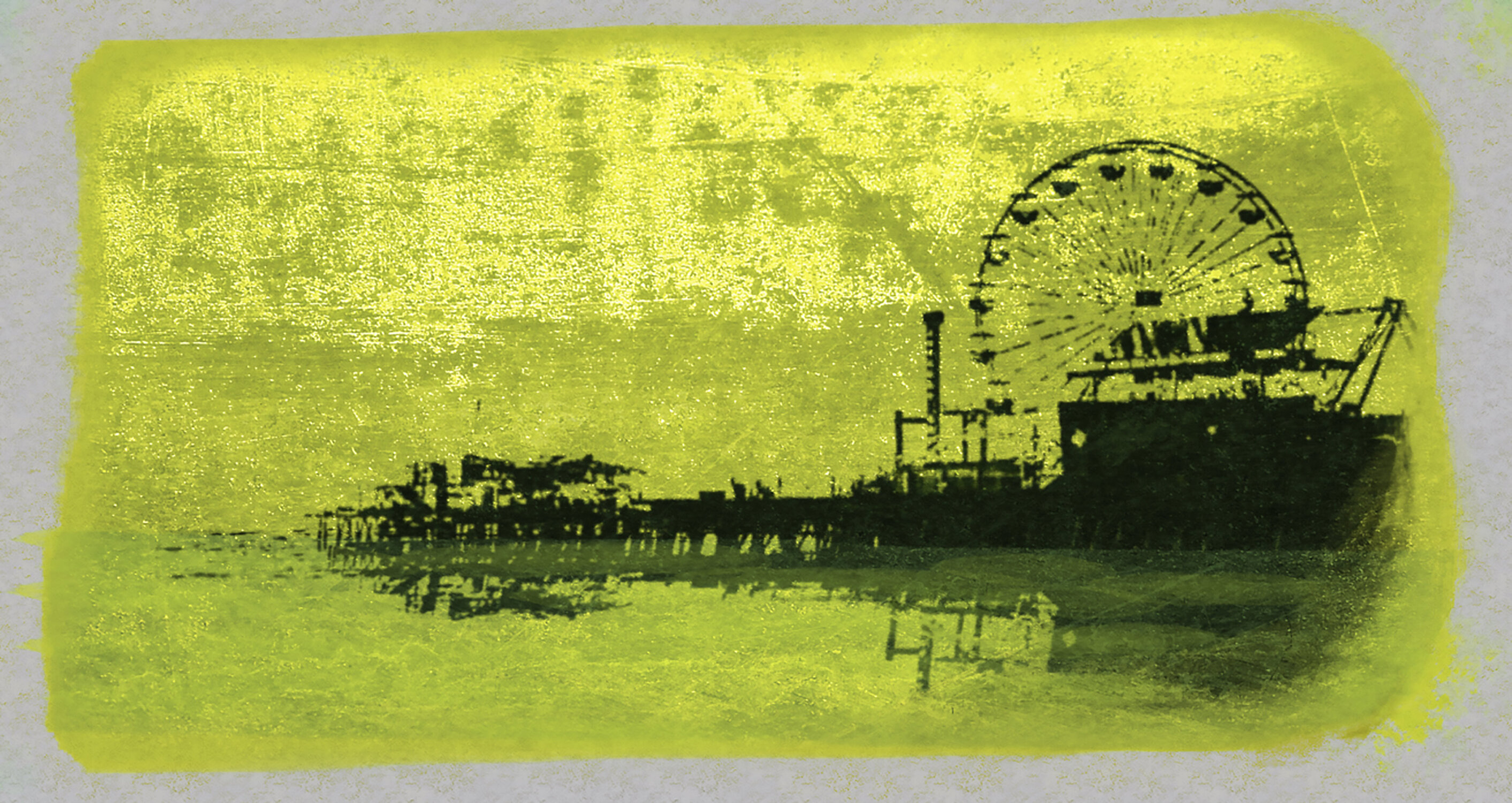 Ptm Images Pier Painting Print On Wrapped Canvas In Yellow Wayfair