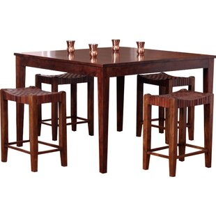 Gambino 5 Piece Counter Height Dining Set Bloomsbury Market
