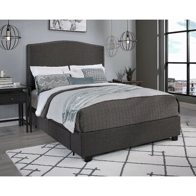 Almodovar Upholstered Storage Platform Bed Size: California King, Color: Dark Gray, Number of Storage Drawers: 2 by Darby Home Co