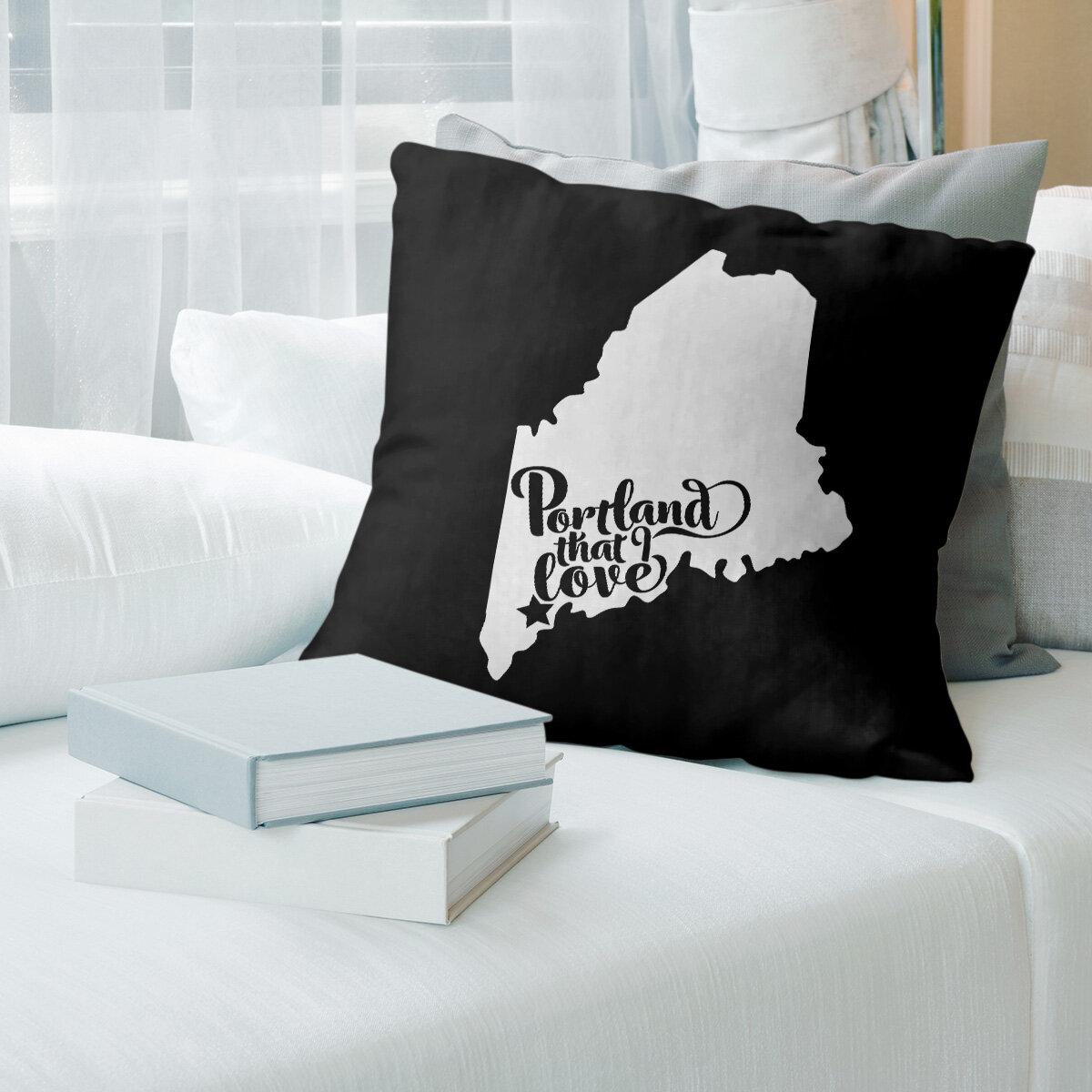East Urban Home Portland Maine Throw Pillow Wayfair