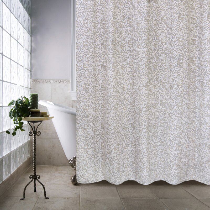 metro farmhouse cotton glorian shower curtain