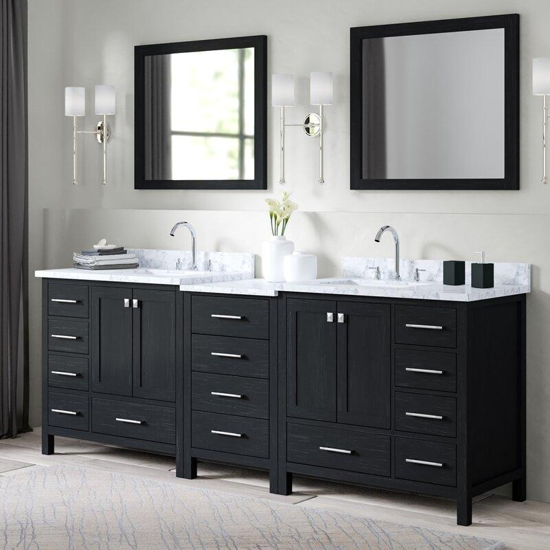 Greyleigh Gothenburg 90 Double Bathroom Vanity Set With Mirror Reviews Wayfair