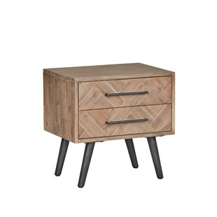 Jamari 2 Drawer Nightstand by George Oliver