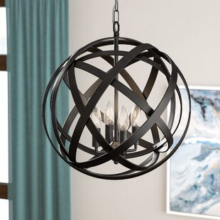 Nilda 4-Light Globe Chandelier