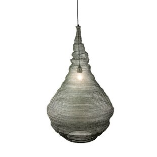Review Safia 1-Light Outdoor Pendant