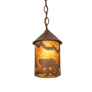 Millwood Pines Ewers Lone Bear Mini 1-Light Lantern Pendant