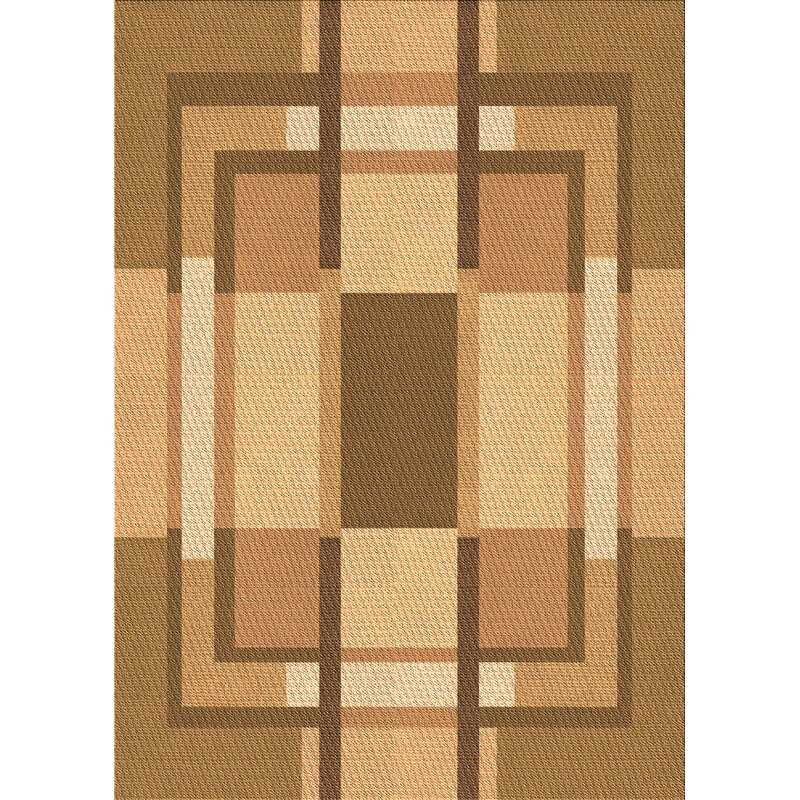 East Urban Home Holmes Geometric Wool Brown Area Rug Wayfair