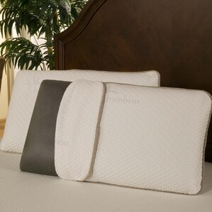 Rayon from Bamboo Charcoal Memory Foam Pillow by Blissful Nights