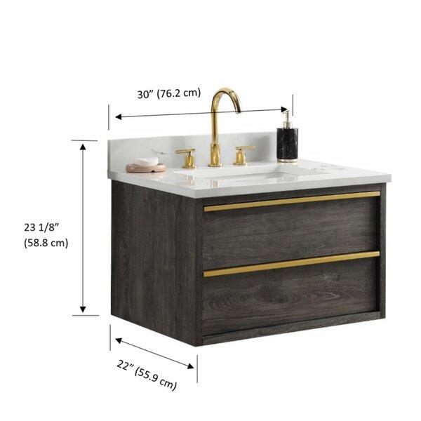 Allmodern Hoye 30 Wall Mounted Single Bathroom Vanity Set Reviews Wayfair