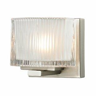Elk Lighting Chiseled Glass 1-Light Bath Sconce