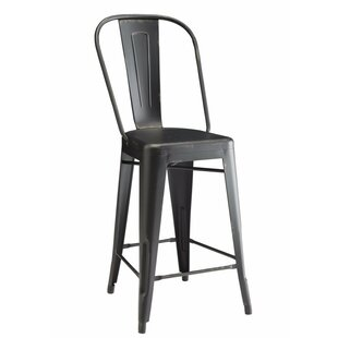 Mckamey Metal Counter Height Dining Chair (Set of 2)
