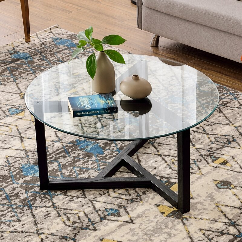 Latitude Run Emireth Cross Legs Coffee Table