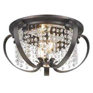 Inexpensive Hardouin 2-Light Flush Mount By Willa Arlo Interiors