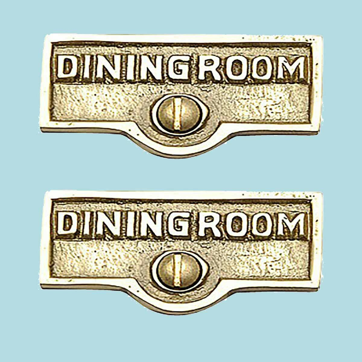 The Renovators Supply Inc Dining Room Name Signs Labels Switch Plate Tag Wayfair