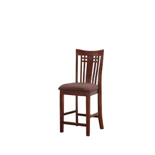 Flossmoor 24.75 Bar Stool (Set of 2) Charlton Home