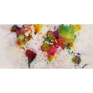 Framed world map wayfair world map print on canvas gumiabroncs Image collections