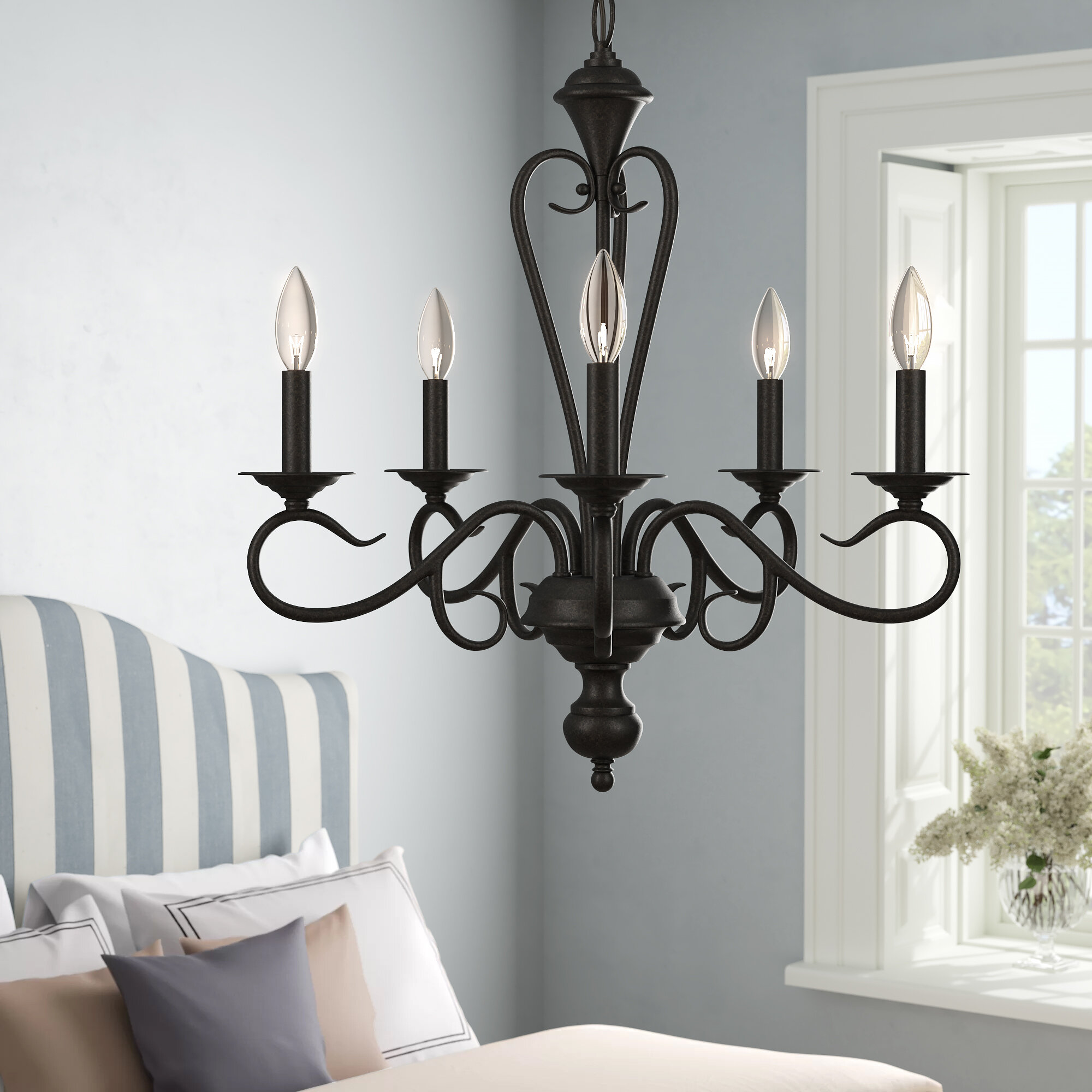 Fleur De Lis Living Birchview 5 Light Candle Style Classic Traditional Chandelier Reviews Wayfair