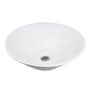 Nantucket Sinks Brant Point Ceramic Circular Vessel Bathroom Sink