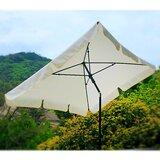 4.5 x 7 Rectangular Market Umbrella Polyester