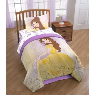 Disney Beauty & the Beast Belle En Rose Twin Polyester 3 Piece Sheet Set