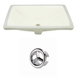 Best Reviews Ceramic Rectangular Undermount Bathroom Sink with Overflow By American Imaginations