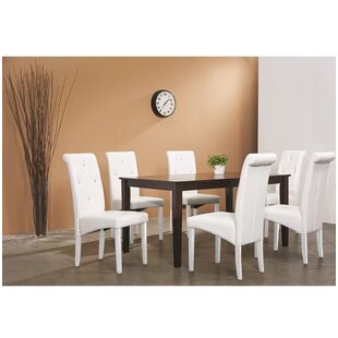 5 Piece Solid Wood Dining Set Latitude Run