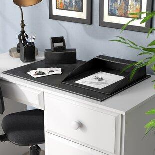 Darby Home Co Seder 5 Piece Leatherette Desk Set
