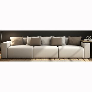 Compare prices Zita Top Grain Leather Sofa by Orren Ellis Reviews (2019) & Buyer's Guide