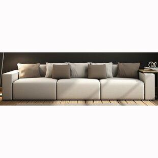 Buy luxury Zita Top Grain Leather Sofa by Orren Ellis Reviews (2019) & Buyer's Guide