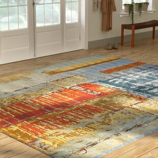Camdyn Blue/Red Indoor/Outdoor Area Rug