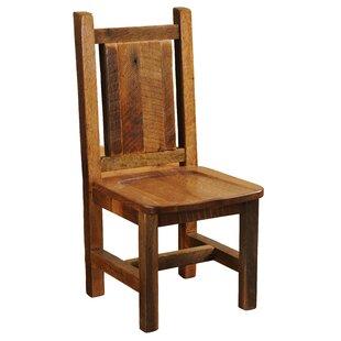 Fireside Lodge Artisan Barnwood Solid Wood Dining Chair