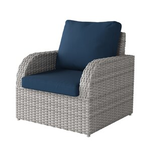 Killingworth Weather Resistant Resin Wicker Patio Chair with Cushions