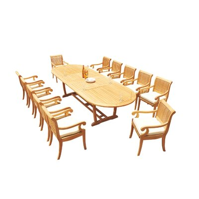 Maskell 13 Piece Teak Dining Set by Rosecliff Heights Fresh