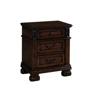 Compare prices Eggert 3 Drawer Nightstand by Astoria Grand