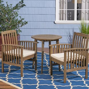 Restivo 3 Piece Bistro Set with Cushions
