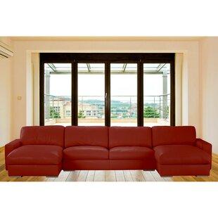 Velva Leather Sectional