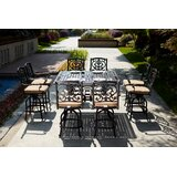 Baudette 9 Piece Bar Height Dining Set with Cushions